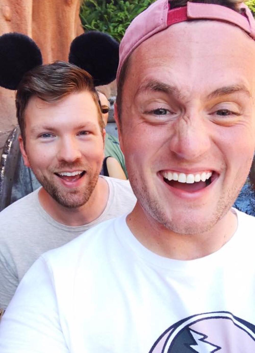 Jonathan and his partner Chris.