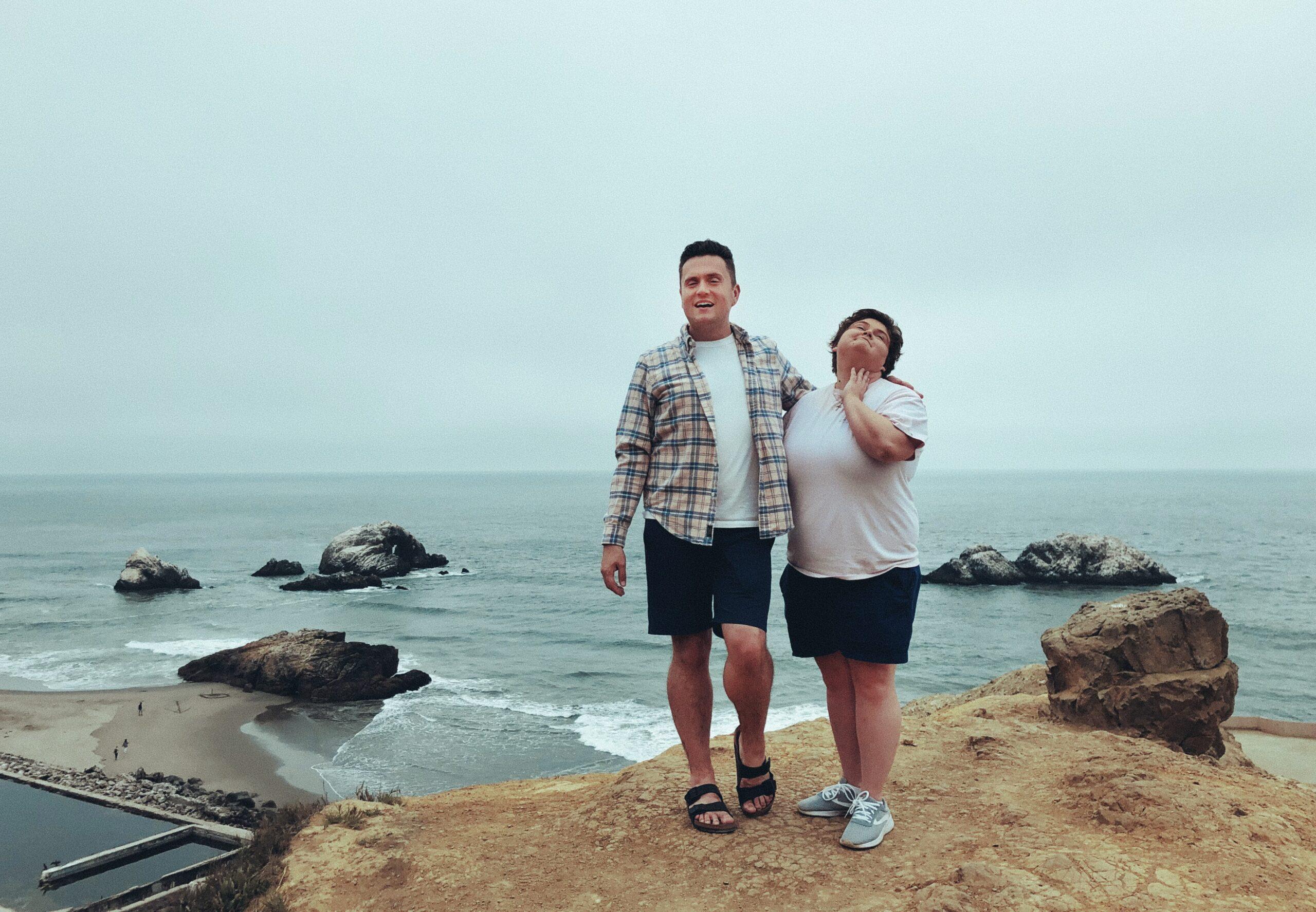 Jonathan with his sister Amanda.