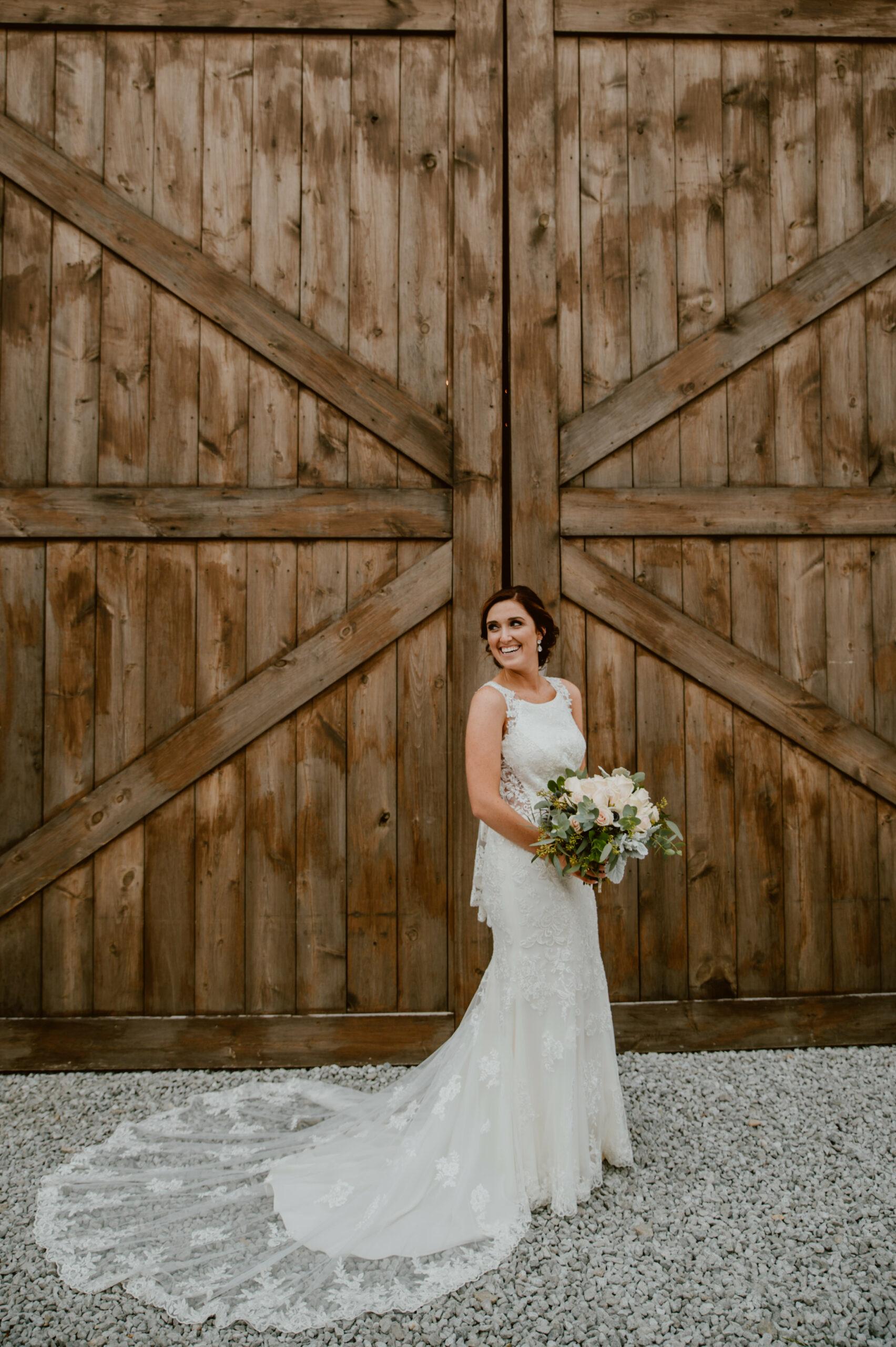 Kaila Sarene Photography — Kim and Keenan The Buckeye Barn. Custom bridal bouquet by Faulks Floral Co