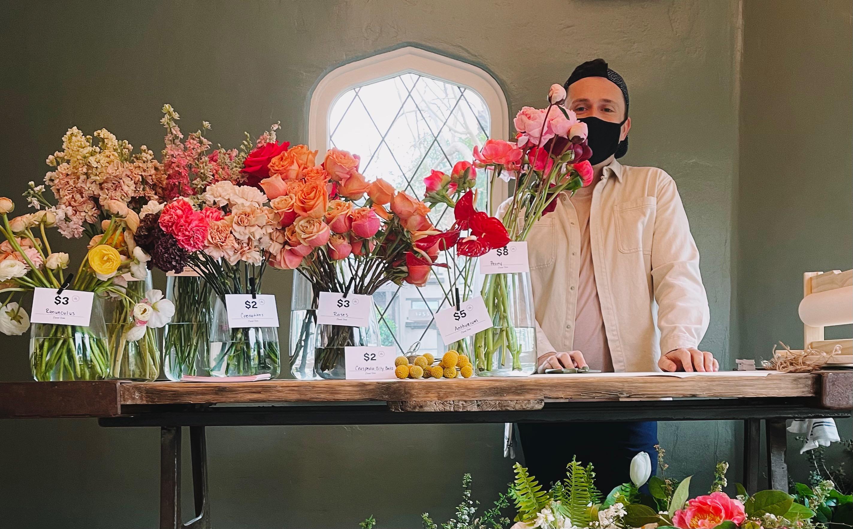 Faulks Floral Co Pop Up at Tartine Santa Monica
